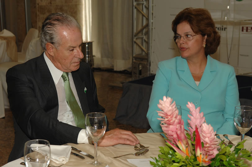 Mario Garnero beside Dilma Rousseff, Brazil's current President and former Civil Minister.